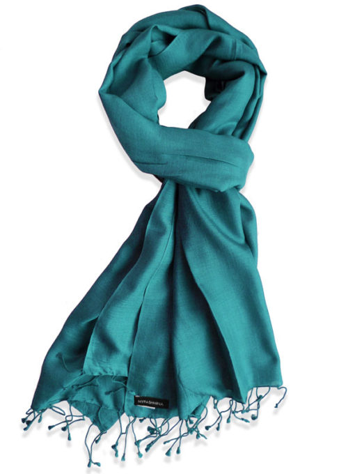 Pure Silk Scarf (210 Quality) - 60x190cm - North Sea
