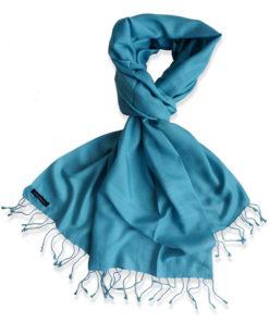 Pure Silk Scarf (210 Quality) - 60x190cm - Larkspur