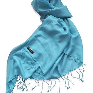 Pure Silk Scarf (210 Quality) - 60x190cm - Adriatic Blue