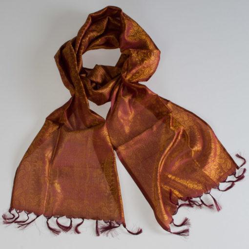 Varanasi Silk Scarf- 26x180cm