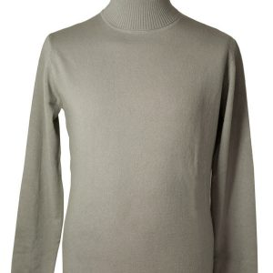 Mens Classic Polo Neck - 100% Cashmere - Small - Cinder
