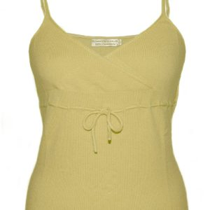 Ladies Vest Top - 100% Cashmere - XS - French Vanilla