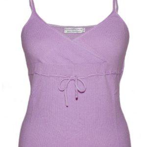 Ladies Vest Top - 100% Cashmere - XS - Lavender