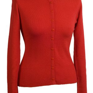 Ladies O Neck Cardigan - 100% Cashmere - Medium - Formula One