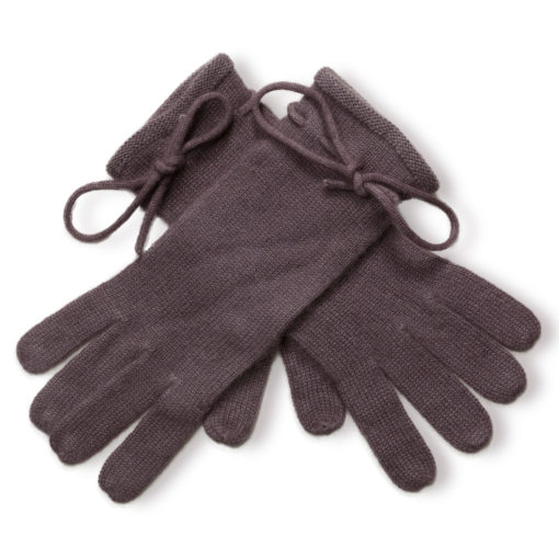 Ladies Cashmere Gloves With Wrist Tie - Rabbit mp63