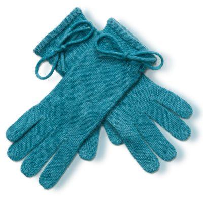 Ladies Cashmere Gloves With Wrist Tie - Larkspur mp103