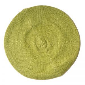 Cashmere Beret - Pale Olive Green