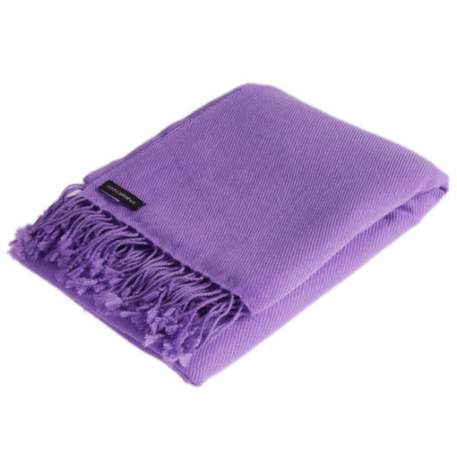 Cf137 - Classic 100% Cashmere Pashmina - Heron mp57 - 70x200cm - With Tassels