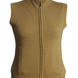Ladies Gillet - 100% Cashmere - Medium - Antique Bronze