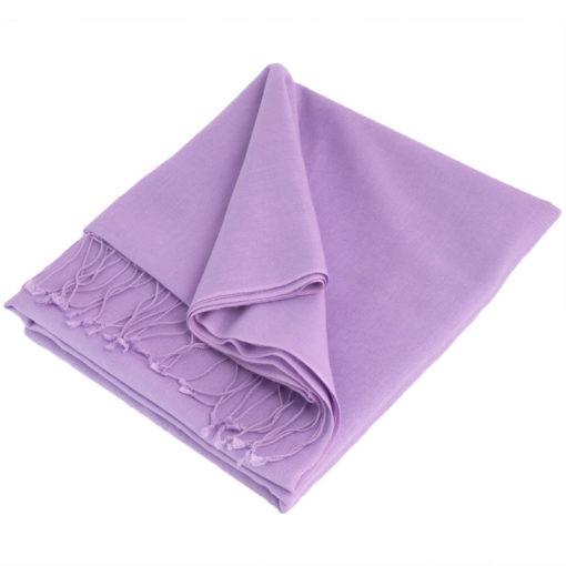 Large Pashmina Scarf - 45x200cm - 70%Cashmere / 30% Silk - Purple Haze