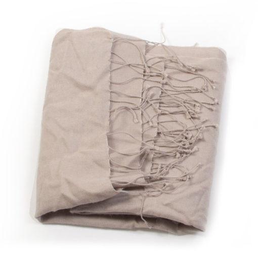 Large Scarf - 70% Cashmere / 30% Silk - 45x200cm - Cobblestone
