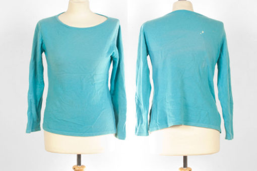Ladies Boat Neck - Small - Turquoise