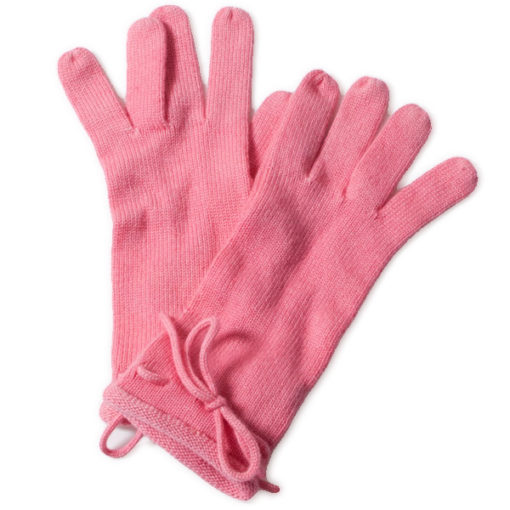 Ladies Gloves With Bow - One Size - Chrysanthemum