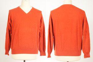 Mens Classic V-Neck - Small more Like Medium - Burnt Orange