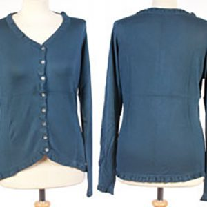 Frilled Edge Cardigan - Small - Insignia Blue