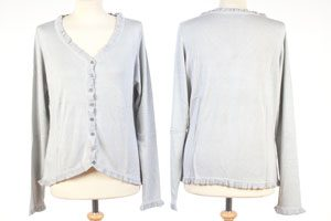 Frilled Edge Cardigan - Medium - Paloma