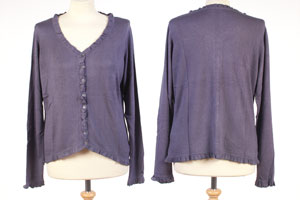Frilled Edge Cardigan - Small - Nightshade