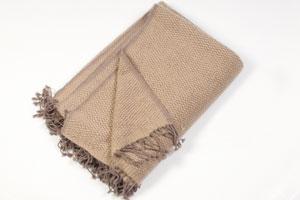 6ply Basket Weave Blanket - 140x180cm - Brown/Beige at Least 12 Pulls