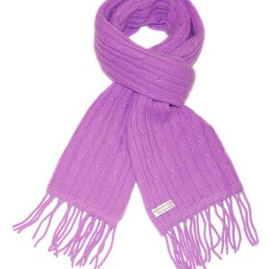 6-Ply Cabled Scarf - 35x160cm - Lavender
