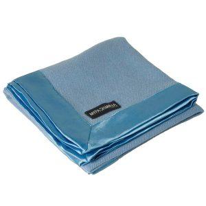 3-Ply Woven Baby Blanket - 100x100cm - Chalk Blue