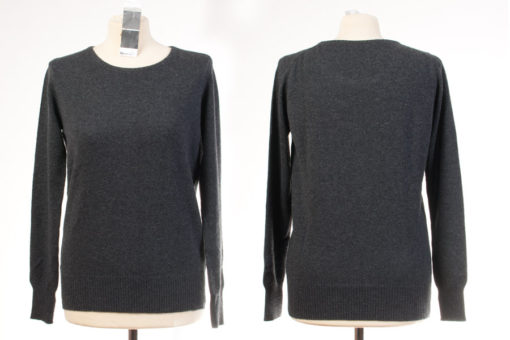 Ladies Round Neck - Large - Melange Dark Grey