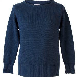 """Mens 8gg Round Neck - 1940s Style - 50% Cashmere/50% Wool - Dark Navy - 47"""" Chest"""
