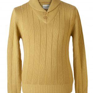 """Shawl Collar - 50% Cashmere/50% Silk - 49"""" - Olivenite"""