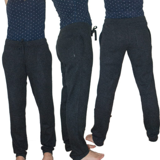 Ladies Yoga Trousers - Black - Small - 100% Cashmere