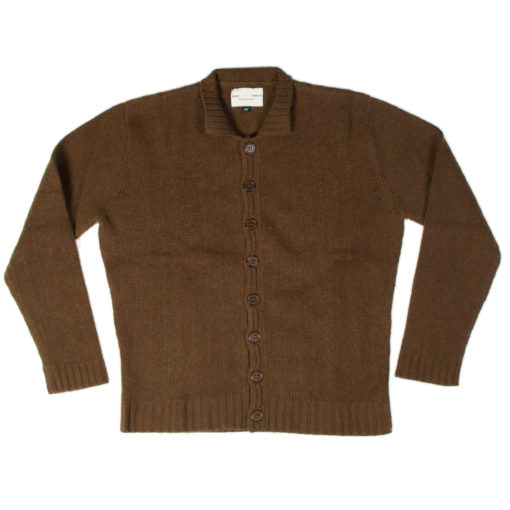 """Mens 8gg Jerkin - 1940s Style - 50% Cashmere/50% Wool - Sepia - 44"""" Chest"""