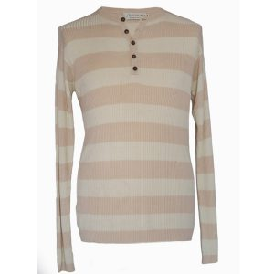 Mens Grandad Shirt - 80% Bamboo/20% Cashmere - Veg Dyes - Medium