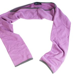 Snuggle Sleeves - Lavender With Charcoal Trim - 100% Cashmere