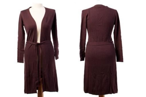 Ladies Fine Gauge Evening Robe - XS - 100% Cashmere - Fudge