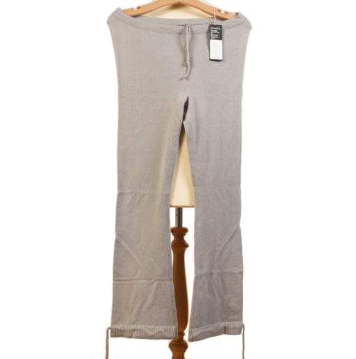 82waist 76insideleg 103outside Leg - Yoga Trousers - 100% Cashmere - Steeple Grey