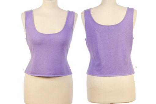 Ladies Yoga Vest - Medium - Lilac