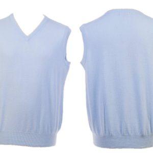 Mens V-Neck Slipover - Medium - Pale Blue