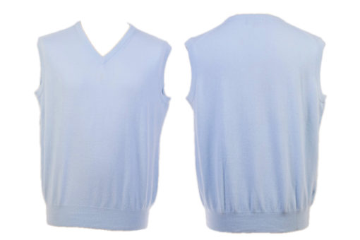 Mens V-Neck Slipover - Medium - Pale Blue