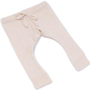 Cashmere Baby Leggings - Newborn - Beige