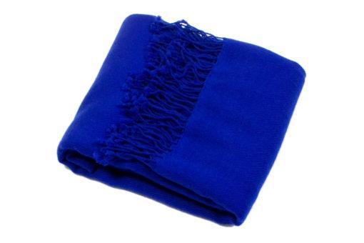 Pashmina Shawl -100% Cashmere - 90x200cm - Electric Blue