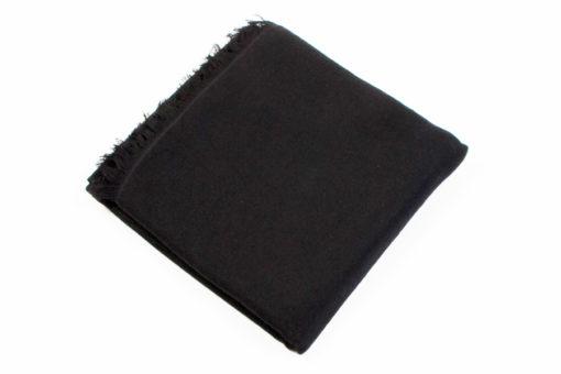 Pashmina Stole - 70% Cashmere / 30% Silk - 70x200cm - Black