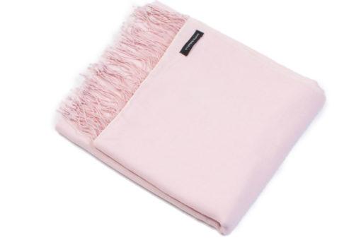 Pashmina Shawl - 70% Cashmere / 30% Silk - 90x200cm - Barely Pink