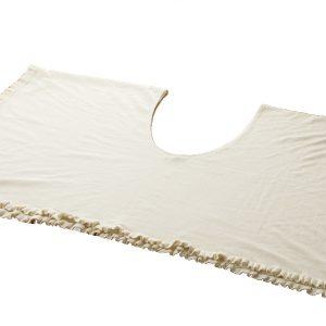 Ladies Versatile Double Layer Cape - 135x135cm - Natural White
