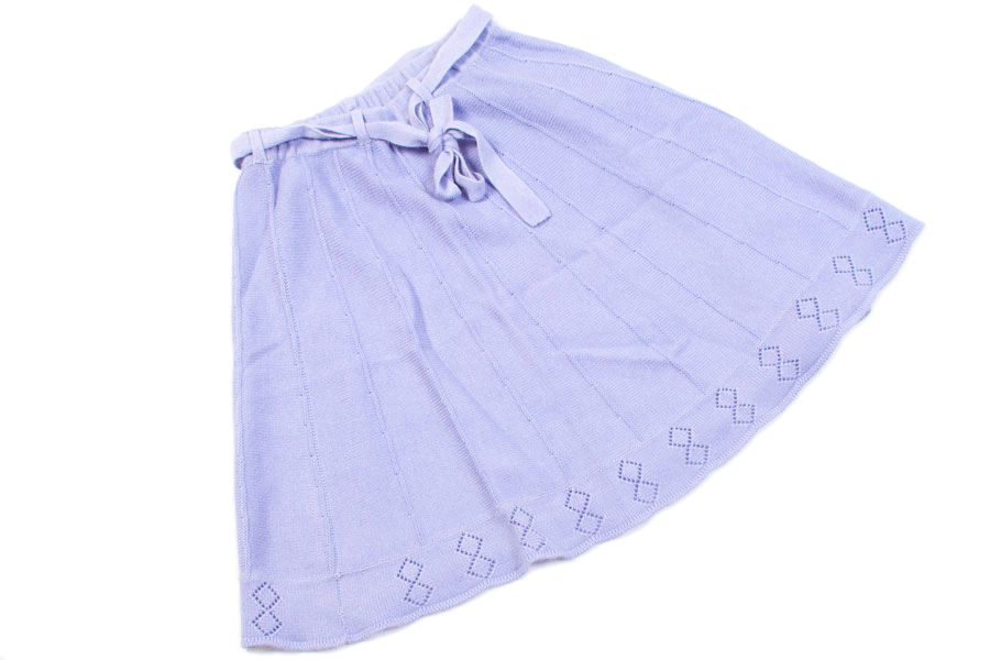 Childs Cashmere Skirt - 6/7 Yrs - Lavender
