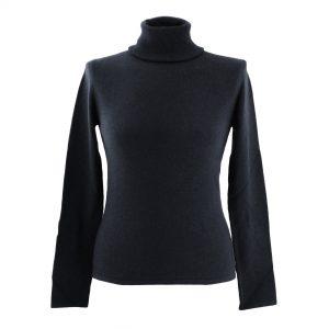 L - Ladies - Polo Neck - Black