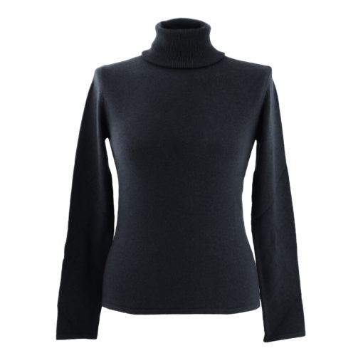 L - Ladies - Polo Neck - Black