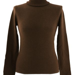 XL- Ladies - Polo Neck - Dark Chocolate