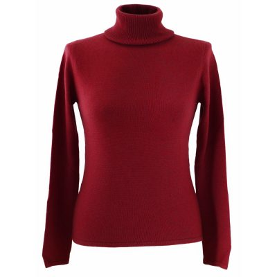 XL- Ladies - Polo Neck - American Beauty
