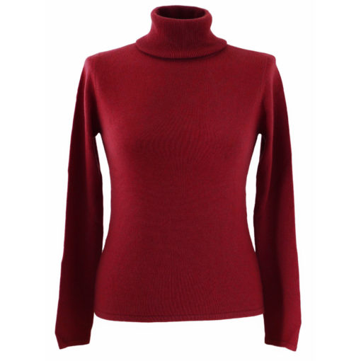 L - Ladies - Classic Polo Neck - American Beauty