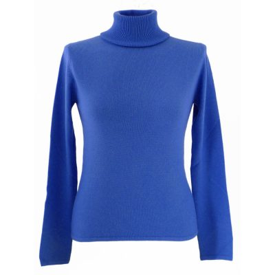 XXL - Ladies - Classic Polo Neck - Meditteranean Blue