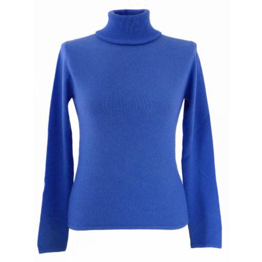 XXL - Ladies - Classic Polo Neck - Meditteranean Blue