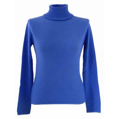 XL- Ladies - Polo Neck - Mediteranean Blue